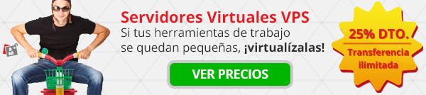 VPS: Servidores Privados Virtuales con un 25% de descuento y transferencia ilimitada para siempre