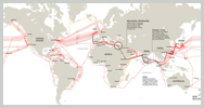 Viaje al fondo submarino de internet: 900.000 km de cable (videográfico)