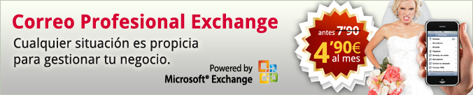 Correo Profesional Exchange. Cualquier situación es propicia para gestionar tu negocio