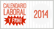 Imagen: Calendario laboral y friki del 2014