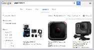 Google shopping gopro