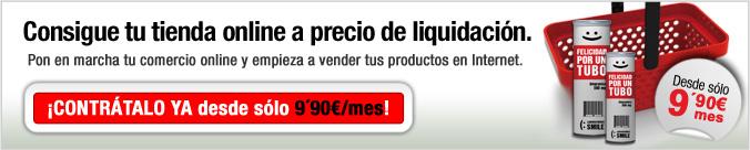 Consigue tu tienda online a precio de liquidación
