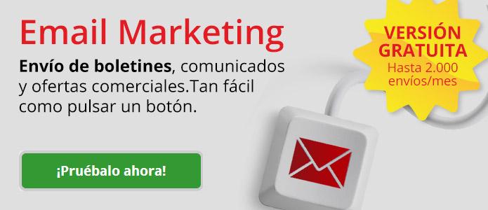 email marketing. Envío masivo de e-mails comerciales. Tan fácil como apretar un botón.