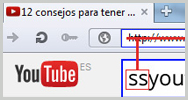 "Imagen: Truco para descargar vídeos de YouTube: sustituye ""https://www."" por ""ss"""