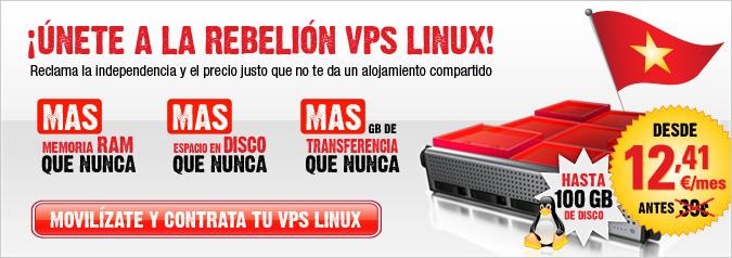 ¡Únete a la rebelión VPS Linux! Reclama la independencia y el precio justo que no te da un alojamiento compartido.
