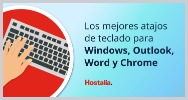 Los mejores atajos teclado windows outlook word chrome infografia doctorhosting