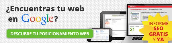 Informe posicionamiento web SEO gratis
