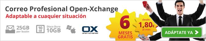 Correo Profesional Open Xchange: adaptable a cualquier situación. 6 meses gratis. Desde 1,80€ al mes