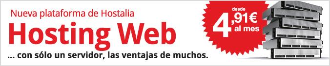 Nueva plataforma de Hostalia. Hosting web con un sólo servidor, las ventajas de muchos. Desde 4.91 € al mes