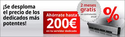 ¡Se desploma el precio de los dedicados más potentes! Ahórrate hasta 200€ en tu servidor dedicado