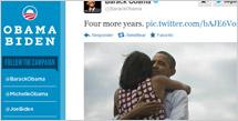 Barack Obama celebraba en Twitter la relección