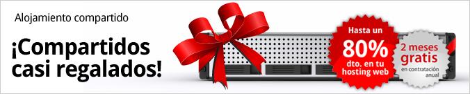 Alojamiento compartido. Hasta un 80% dto. en tu hosting web. 2 meses gratis en contratación anual